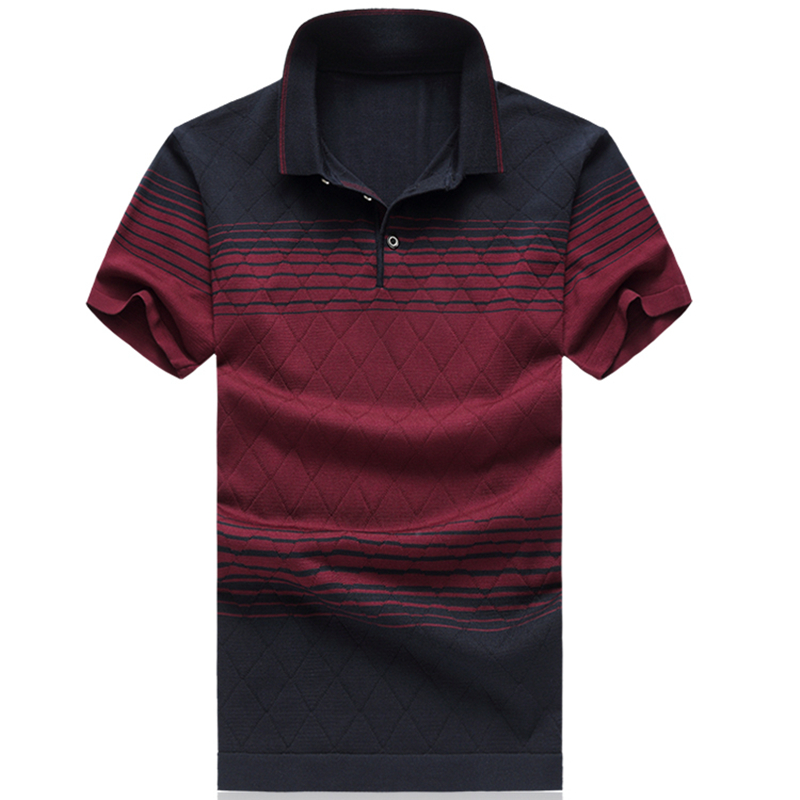 2018 Summer Fashion Brand Clothes Mens Striped Short Sleeve   Polo   Shirt Mens   Polo   Shirts Luxury   Polo   Shirts Male Plus Size M-6XL