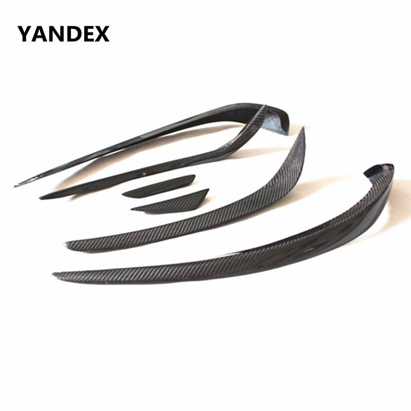Яндекс углеродного волокна передний разделитель губ для Mercedes Benz CLA Class W117 CLA 200 2014 2016 CLA 200 CLA180 CLA250 Canard сплиттер