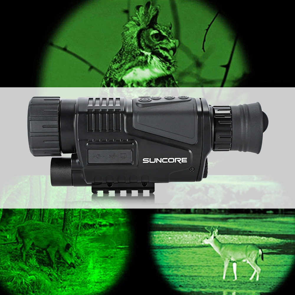 SUNCORE 5x40 Hunting 200mNight Vision Telescope With Digital Video Camera Infrared Function For Tactical Optics Monocular Device 5x40 hunting 200m night vision telescope with digital video camera infrared function for tactical optics monocular device