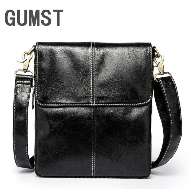 GUMST Men Bag Fashion Leather Crossbody Bag Shoulder Men Messenger Bags Small Casual Designer Handbags Man Bags