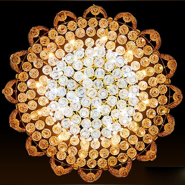 Moderne Lampade A Soffitto di Cristallo LED Luci A Soffitto Oro Casa Apparecchio Warm Neutral Bianco Freddo 3 Colori Variabile con Regolatore - 6