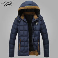 2016 New Brand Mens Winter Coat Thicken Warm Men S Jackets And Coats Hooded Cotton Padded