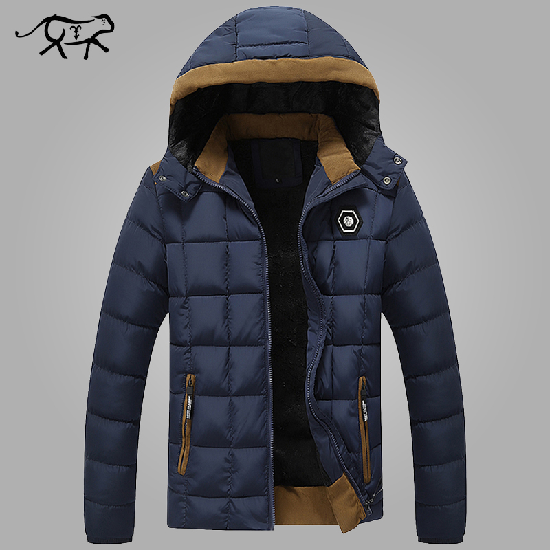 2017 New Brand  Mens Winter Jackets and Coats Thicken Warm jacket Men Coat Hooded Cotton-Padded Male Clothing Hommer Parkas