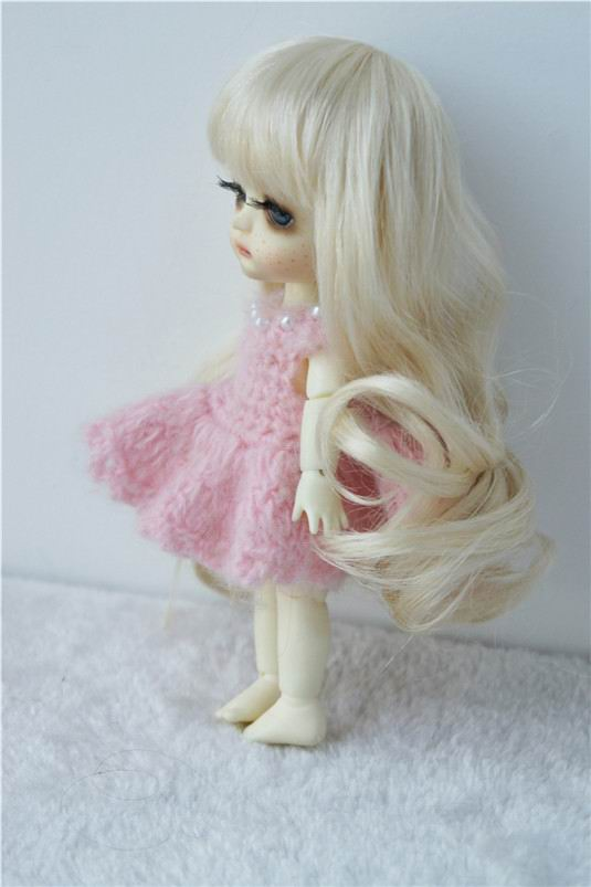 JD148 1/8 Симпатичные Длинные курчавый BJD химическое мохер кукла парики Размер 5-6 дюймов кукла парик распродажа