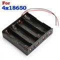 Alta calidad caliente de la venta negro plástico 4 Ways Storage Battery Case cuadro titular de 4 x 18650 con 6 Wire Leads