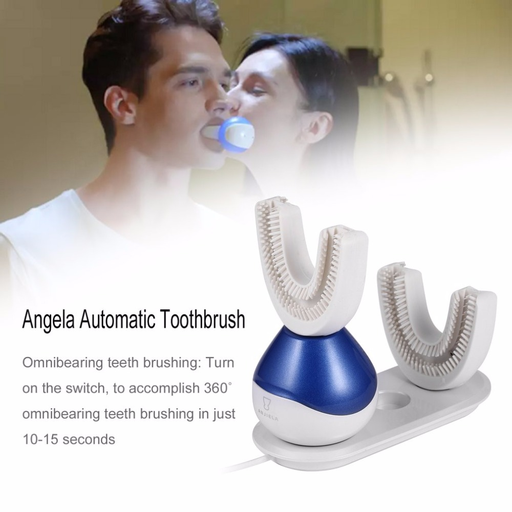 Intelligent Fully Automatic Toothbrush in 15 Seconds 360 Degree Oral Cavity Spa for Oral Health with U Type Toothbrush