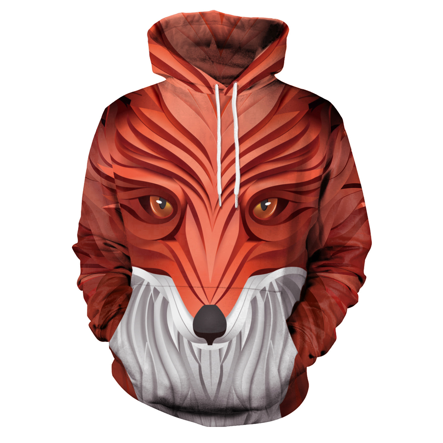 Men Hoodies Realistic Fox Head 3D Print Hoodies Men Hoodie Loose Long Sleeve Hooded Sweatshirt Streetwear Sudaderas Para Hombre