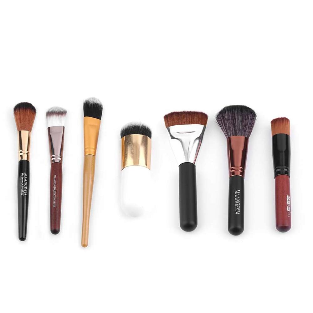 7pcs/set Combination Kit Women Lady Facial Makeup Brush Blush Powder Foundation Beauty Makeup Brushes Set   Best selling kitbwk6500bwkfscbgrn value kit boardwalk scrub brush bwkfscbgrn and boardwalk 6500 two ply facial tissue bwk6500