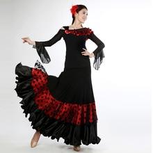 Одежда для танцев; юбка для фламенко; платье для бальных танцев; костюмы для испанских танцев; бальная юбка; топ и юбка