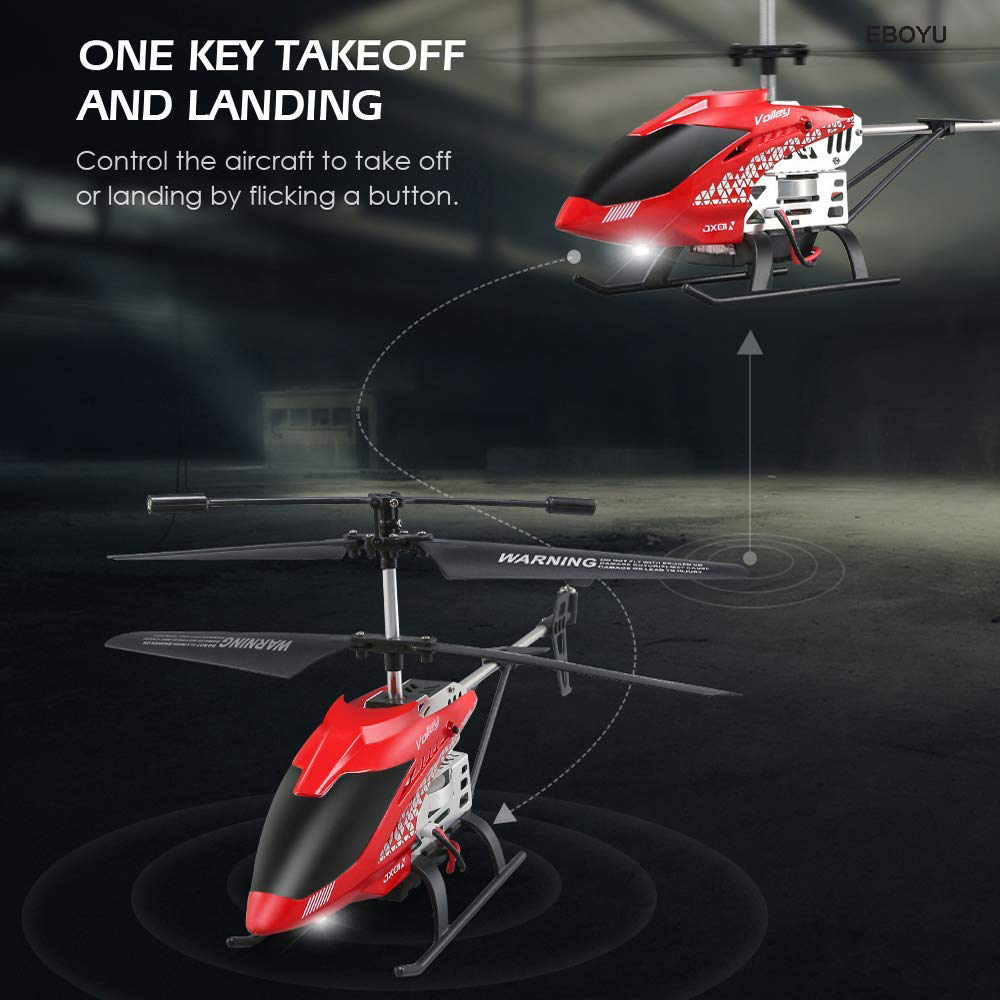JJRC JX01 2.4GHz 3.5CH Gyro Remote Control Alloy Copter RC Helicopter Drone with Attitude Hold LED Light One Key Off/ Land RTF