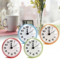 NEW Bathroom Kitchen Waterproof Shower Wall Mini Clock Watch Suction Cup Battery Operated Living Room Modern