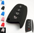 ACCESSORIES SMART SILICONE KEY COVER FIT FOR 2013 2014 2015 HYUNDAI SANTA FE IX45 GENESIS EQUUS AZERA REMOTE COVER HOLDER FOB