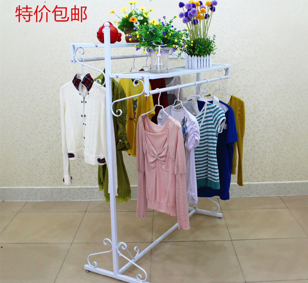 Wrought Iron Double Clothing Hangers Show Dress Aircraft Landing Hung In Storage Holders Racks From Home Garden On Aliexpress