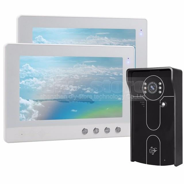 DIYSECUR 10 inch Wired Video Door Phone Doorbell Home Security ...