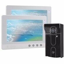 DIYSECUR 10 inch Wired Video Door Phone Doorbell Home Security Intercom System RFID Camera IR Night Vision 1V2