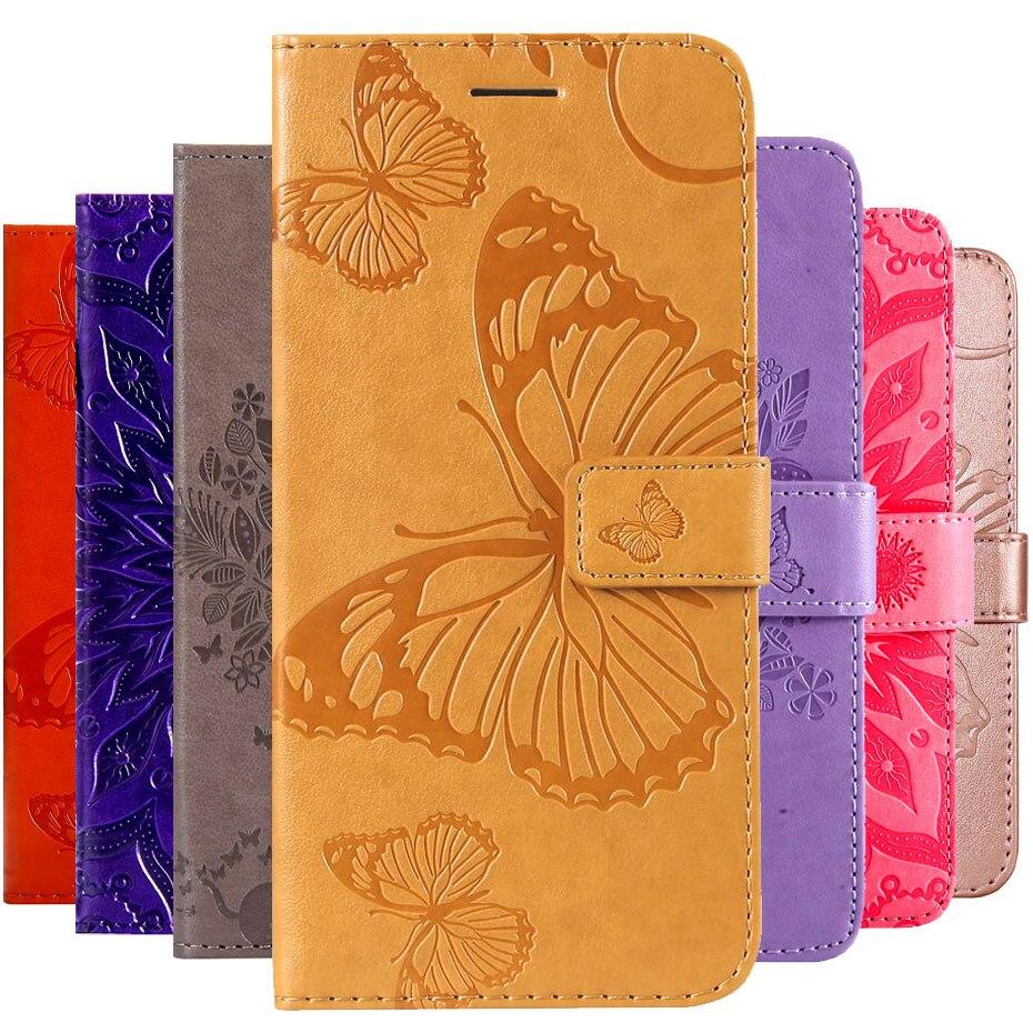 3d Butterfly Embossed Flip Case For Samsung Galaxy S8 S9 S7 S10 S10e Edge A8 A6 J4 Plus J6 A9 J2 Core J8 A7 2018 Wallet Case