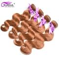 #30 Body Wave Hair Weave Unprocessed Virgin Brazilian Bleach Blonde Human Hair 4 Bundles Lot Brazilian Medium Brown Virgin Hair