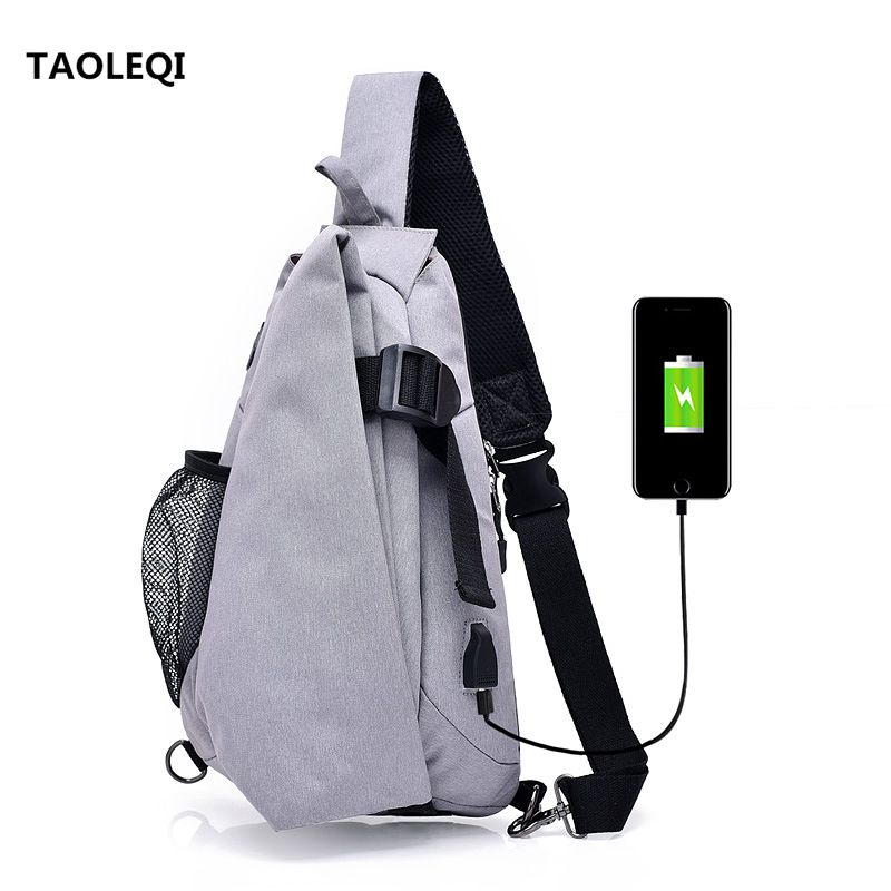 TAOLEQI Brand Canvas Men Chest Pack Crossbody Bag Casual Travel Rucksack Chest Bag Small Sling Bags Men Shoulder Back Pack Black men canvas small sling chest pack handbag vintage shoulder crossbody bag function small men messenger bags grey 19 8 25 cm