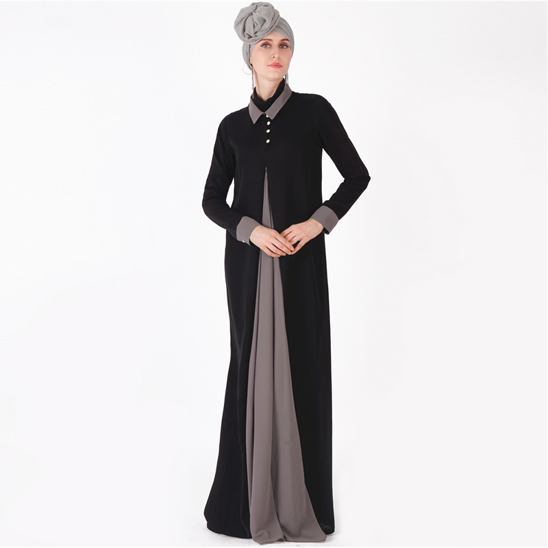 Splice Abaya Kaftan Hijab Muslim Dress Muslim Women's Abaya