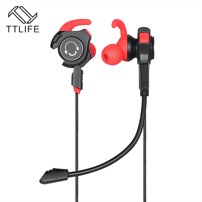 TTLIFE Wired Game Earphones QC3 3.5mm Stereo Hifi K Song Music Headset Sport Original Headphones with Microphone for Phones PC rock y10 stereo headphone earphone microphone stereo bass wired headset for music computer game with mic