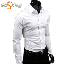 Мужская повседневная рубашка Camisa 2016 Masculina