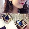 ES961 Женщины Серьги Ювелирные Изделия Brincos Кристалл Earing 2016 pendientes mujer Позолоченный Роскошный Дизайн НОВОГО Прибытия