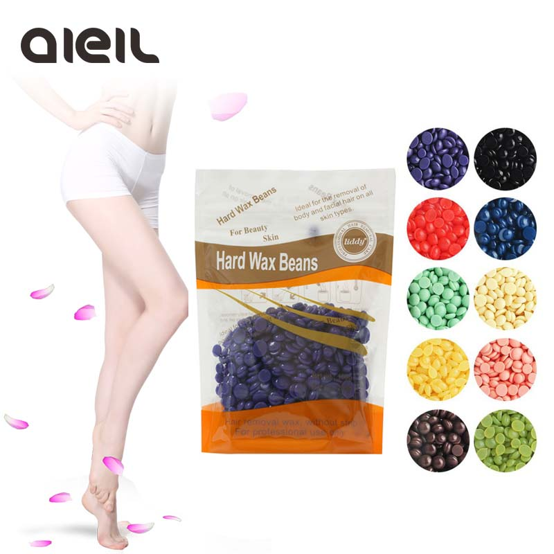 100g Wax Beans Depilatory Epilator Hard Wax Pellet Waxing Bikini Hair Removal Bean Wax Heater Hair Removal Beans Depilatory 300g hard wax beans pellet waxing bikini hair removal wax beeswax lavender banana rose tea strawberry chamomile