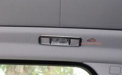 4 pc matowy chrom wnętrze dachu światło kopuły mapie pokrywa tapicerka dla Range Rover Evoque 2012 +