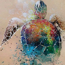 Full Square drill 5D DIY Diamond painting Colored turtle Diamond Embroidery Mosaic Cross Stitch Rhinestone decoration diamond embroidery religious woman full square drill 5d diy diamond painting cross stitch rhinestone mosaic decorationya236