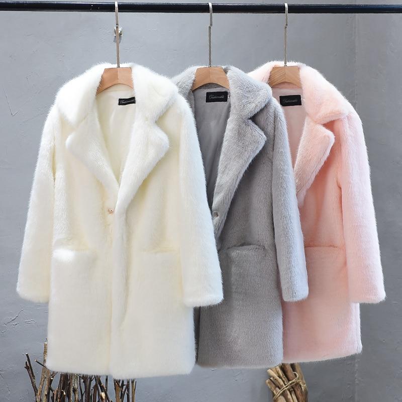 Femmes Peluche White Manteaux En De Plus Haut Hiver 2019 Lmitation La pink  Épais Manteau light Femelle Grey Cheveux Gamme Taille Fourrure Rex Chaud  Faux ... 6f106c2cc76