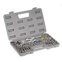 40pcs High Speed Steel Tap Die Set Metric Taps Dies Adjustable Tap Die Holder Thread Gauge
