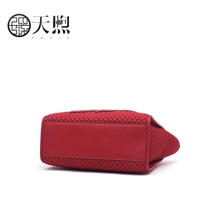 À Mode Rouge 2018 National De Vent Sac Nouvelle red Pmsix Capacité Grande Black Sauvage Femelle Dame Épaule Main CqOtwf8P