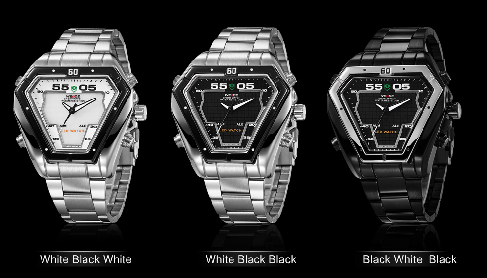 bdbc778877d6 Iron Man limited edition mens watches top brand luxury WEIDE 2015 military  watch relogio masculino LED display sports relojes-in Quartz Watches from  Watches ...