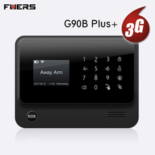 цена на FUERS 2019 NEW WIFI GSM 3G G90B Wireless Home Security Alarm System IOS Android APP Control Home Burglar Security