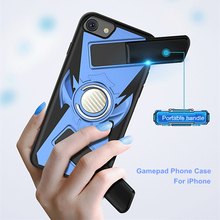 Luxury Handle Gaming Grip For iPhone X 8 7 6 6S Plus Case Game handle Gamepad Cover For iPhone XS Max XR Ring Holder Stand Case gaming hand grip holder with stand for iphone 4 black