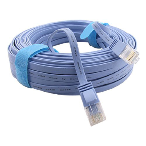 IMC Hot 98FT 30M CAT6 CAT 6 Flat UTP Ethernet Network Cable RJ45 Patch LAN Cord Blue rj45 ethernet lan flat cable blue 300cm