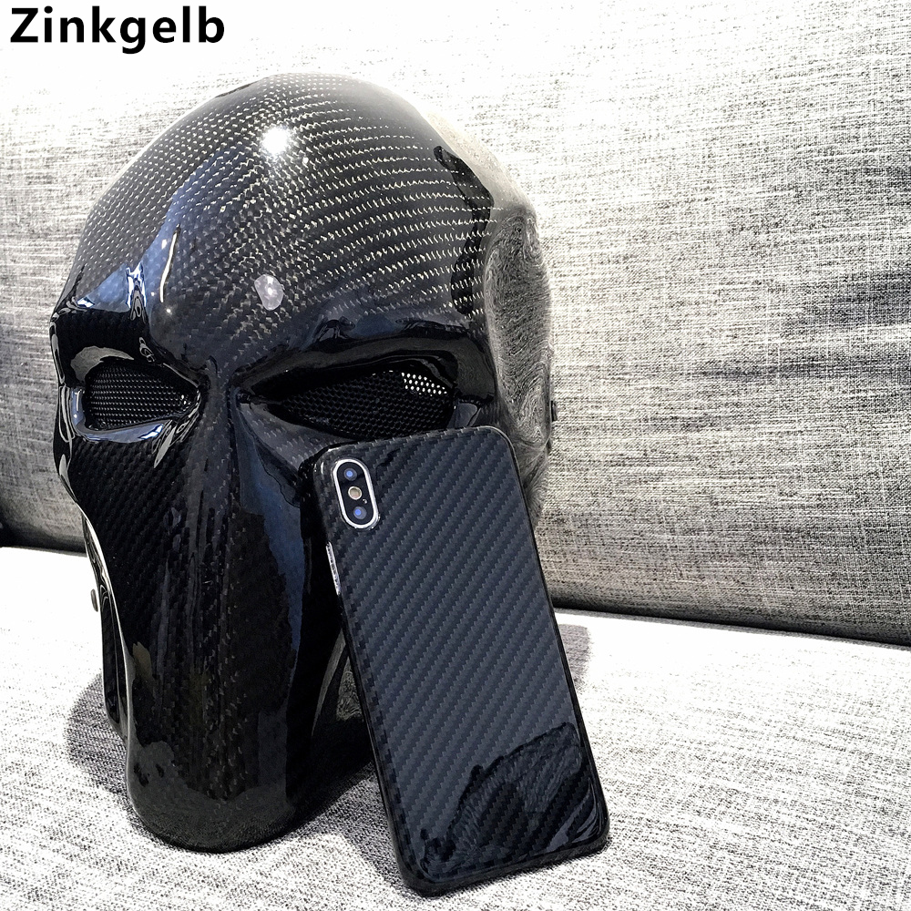 For iPhone XS Max Cover Case Luxury Slim Real Carbon Fiber Armor Protection Phone Case for