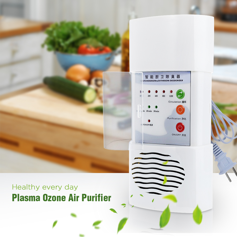 Plasma Ozone <font><b>Air</b></font> <font><b>Purifier</b></font> Home Office Germicidal Electric Oxygen Concentrator Filter Cleaner Deodorizer <font><b>White</b></font> Chinese Plug