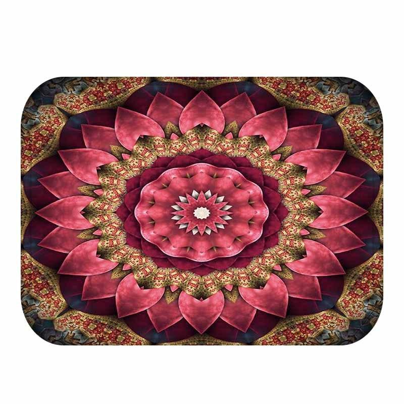40*60cm Modern Big Flower Design Carpet Flannel Fabric Art Mat For Bedroom  Rug Kitchen