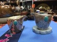 Бирюзовое дерево зерно серебро чай море серебро 138 г чашка