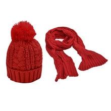 2 in 1 Set New Fashion Winter Women Warmer Thicken Scarf