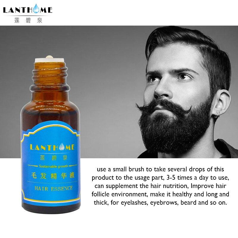 1 Bottle Professional Men Beard Growth Enhancer Facial Nutrition Moustache Grow Beard 10 ...