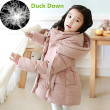 2018 Cold Winter Warm 3-10 12 14 Years Teenager Baby Child Christmas Gift Long Thicken Coat Parkas Kids Girls Duck Down Jacket