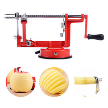 3 In 1 Stainless Steel Hand-Cranked Fruit Peeler With Clipping Apple Potato Slicer Machine Kitchen Tools Color