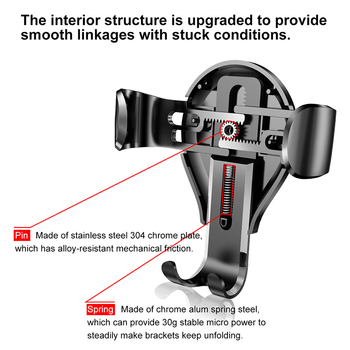 Baseus Gravity Car Phone Holder For iPhone 11 Pro Max Samsung Suction Cup Car Holder For Phone in Car Mobile Phone Holder Stand 4