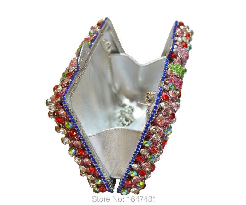 Diamant Sac Main Purse Bling Jour Pochette Femmes Fleur Laisc ladies Purse Chaîne Cristal Embrayages Soirée Ladies Luxe À Sc264 Party De 1XTw5P5q