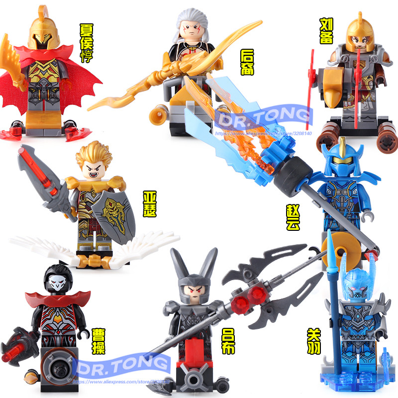 8pcs/lot SY679 King of Glory Heroes One of China Romance of the Three Kingdoms Building Blocks Figures Set Models Toys the grand scribe s records v 1 – the basic annals of pre–han china