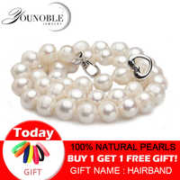 Real Freshwater pearl necklaces women wedding,white choker natural pearl necklace 925 silver jewelry big best birthday gift