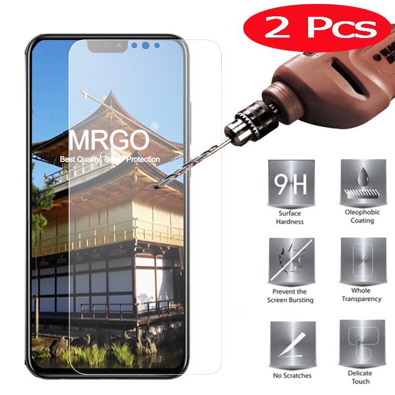 2Pcs MRGO Tempered Glass for Huawei Honor 8X on Screen Protector Phone Film on Glass Tempered for Huawei Honor 8X Glass