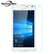 Microsoft para Nokia Lumia 650 Protector de pantalla de vidrio templado RONICAN 9H 0,26 MM 2.5D película protectora de seguridad en Lumia650 Dual Sim